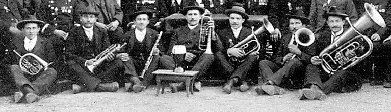 Der Musikverein im Jahre 1909