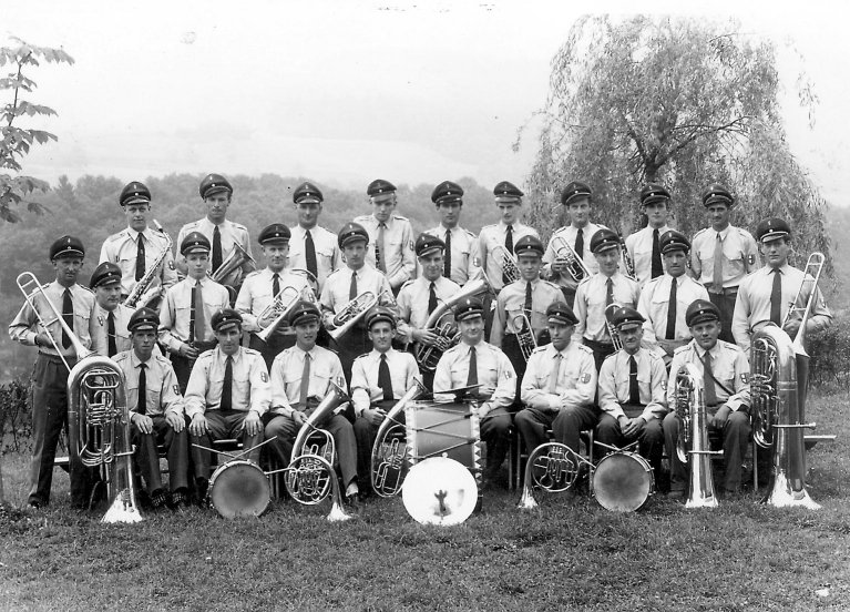 Der Musikverein im Jahre 1960